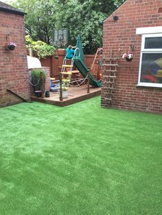 Faux grass gone in