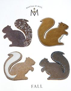 Good Things by David: Martha by Mail ~ Sugar Squirrel & Mighty Acorn Cookie Cutters