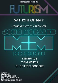 John Morales @ ISM recs/London