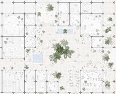 Floor plan of Sou Fujimoto designs masterplan made from modular arches