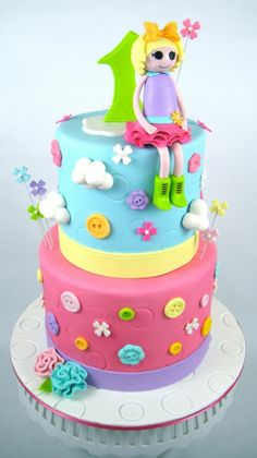 1000 images about tortas on pinterest search mickey - Cumpleanos para ninas ...