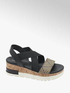 czarne sandały Graceland w stylu etno na platformie - deichmann.com Graceland, Duffy, Fashion Boots, Espadrilles, Shoes, Color, Products, Boots Style, Wedge Sandal
