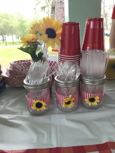Baby Q Shower, Diaper Shower, Baby Shower Themes, Shower Ideas, Bridal Shower, Picnic Baby Showers, Baby Shower Parties, Bbq Decorations, Sunflower Baby Showers