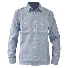 Carhartt Clink Shirt chemise aster blue rinsed oxford chambray 79,00 € #carhartt #carharttwip #carharttworkinprogress #skate #skateboard #skateboarding #streetshop #skateshop @PLAY Skateshop