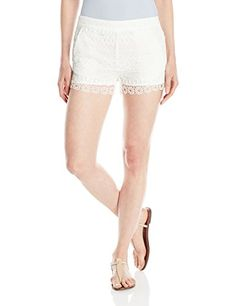 French Connection Womens Castaway Stripe Shorts Summer White 4 -- See this great product.