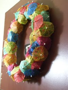 Summertime Umbrella Wreath