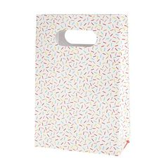 Delightfully fun and colourful Sprinkles Party Bags and Seals by hiPP!  Make your guests happy with a pretty party bag for a table setting or to take home. With each bag having a rolled top and built in handle, the quality of these bags will delight you and impress your guests.   Little Boo-Teek - hiPP Party Products Online   Kids Party Treat Bags   Designer Kids Party Supplies