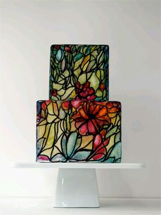 friggin' love this stained glass cake!!