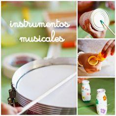 pintalalluna: Instrumentos musicales con material reciclado