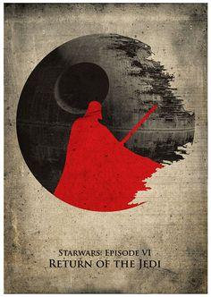 Star Wars Darth Vader Vintage Print por MyGeekPosters en Etsy