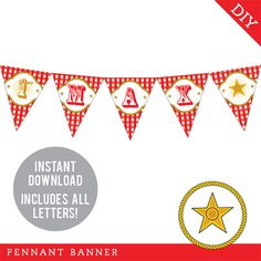 INSTANT DOWNLOAD Country Western Party  DIY printable by Chickabug