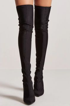 Over-the-Knee Sock Boots - Women - New Arrivals - 2000216295 - Forever 21 Canada English Sock Shoes, Cute Shoes, Shoe Boots, Boho Hippie, Over The Knee Sock Boots, Fall Socks, Thigh High Boots Heels, Monochrome Fashion, Stylish Boots