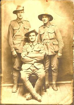 AIF photo of Dick Cawthorne, Sydney Dunn & Fred Westren. do you know these Australian soldiers?