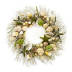 """$39.99 Decorative Natural Shell Scented Wreath 19"""" Diameter"""
