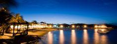 Uma vista desde Barra Dá Lagoa Hotel da noite de Buzios. Vivi uma experiência de pura tranquilidade e relax na costa brasileira! Consultá online por descontos!!