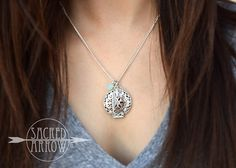 "18"" Silver ""Summer at Sea"" Diffuser Necklace – Sacred Arrow"
