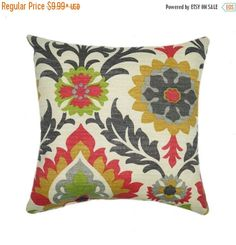 SALE Sun N Shade Santa Maria Jewel Outdoor Pillow Cover Red