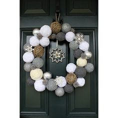Snowball Wreath via twojunkchix