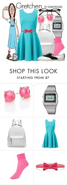 """""""Gretchen"""" by leslieakay ❤ liked on Polyvore featuring Ippolita, Casio, GRETCHEN, Forever New, Hue, RED Valentino, disney and disneybound"""