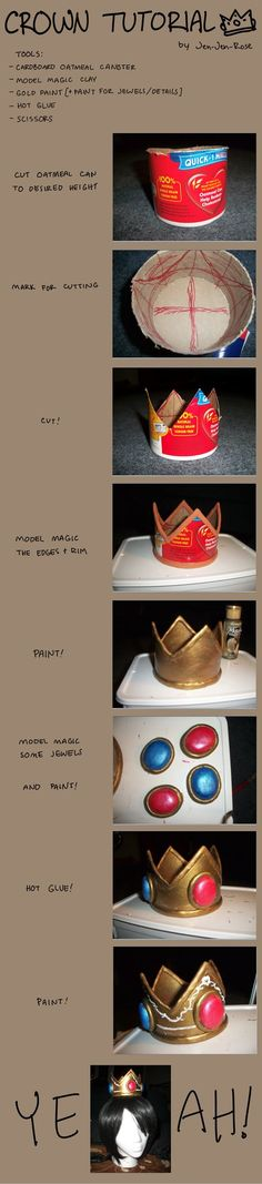 Crown tutorial! In this I made one modeled after Princess Peach's crown, but you could easily do this for many other kinds of crowns. After finishing this I realized it still needs one more coat of...