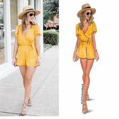 98 отметок «Нравится», 2 комментариев — Fashion Illustrator (@lilyfashionsketch) в Instagram: «Yellow #outfit by @whitswhims  __________________________ I randomly selected a lot of colorful…»