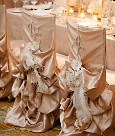 Couture Bling Chair Covers for Rent :  wedding chair covers linens cheap bling rhinestone bustled chair cover chicago indiana wisconsin pink silver inspiration diy reception Right Side Website
