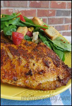Blackened Fish on the Grill - the perfect KICK of seasoning {writtenreality.com} #fish #grill #recipe