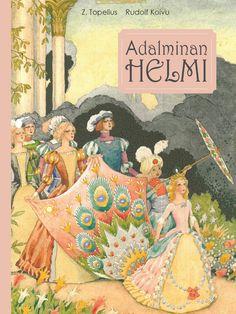 Prinsessa Adalmina saa haltiakummiltaan taikahelmen, joka tekee kantajastaan kauniin, rikkaan ja älykkään. Mutta mitä tapahtuu, kun helmi katoaa? Zacharias Topeliuksen rakastetun klassikkosadun on kuvittanut Rudolf Koivu. Ikäsuositus: 4+ Children's Book Illustration, Grimm, Childrens Books, Fairy Tales, Literature, Kindergarten, Nostalgia, Folk, Retro