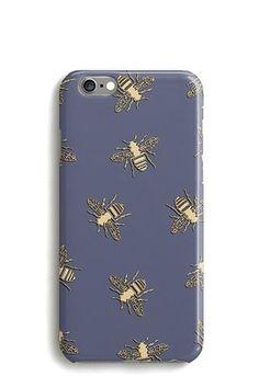 Bees Phone Case, iPhone, Samsung, Google Pixel, Blue