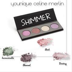 Créer ta propre palette de fards à paupières avec les 25 nouvelles couleurs younique (shimmer, metellic, mats et satin). J'adore