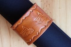 Handmade Running Horse Bracelet by Tina's Leather Crafts on Etsy.com.  Repin To Remember.