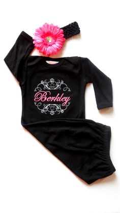 OH MY this would be so cute for hospital pics!!!  Monogram Layette Gown Newborn Take Me Home by LilMamas on Etsy, $32.00