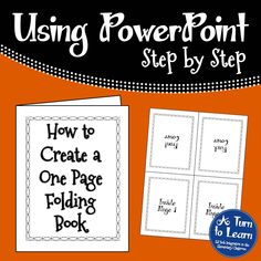 If you want to create a folding book using a regular sheet of paper, this tutorial will walk you through how to make a one page folding book! Computer Basics, Computer Help, Computer Technology, Computer Programming, Computer Literacy, Computer Tips, Medical Technology, Energy Technology, Technology Gadgets