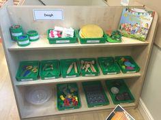 Dough storage Preschool Room Layout, Preschool Rooms, Classroom Layout, Classroom Design, Early Childhood Centre, Early Childhood Activities, Montessori, Daycare Setup, Emergent Curriculum