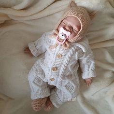 Baby Knitted Wool Jumpsuit Knitted Baby Clothes Baby Knit   Etsy