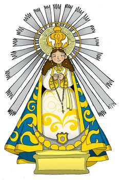 Our Lady of the Miracle of Salta Blessed Mother Mary, Blessed Virgin Mary, Jesus E Maria, Mama Mary, Holy Rosary, Our Lady, Folk Art, Catholic, Saints