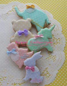 animal cookies by JILL's Sugar Collection, via Flickr
