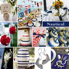 wedding colors part exclusively weddings wedding planning color story choosing wedding colors exclusively weddings Nautical Wedding Theme, Nautical Party, Wedding Themes, Wedding Decorations, Wedding Ideas, Anchor Party, Wedding Details, Wedding Wishes, Our Wedding