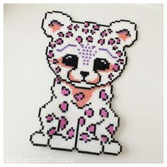 Leopard hama beads by  katherinafranka                                                                                                                                                      More