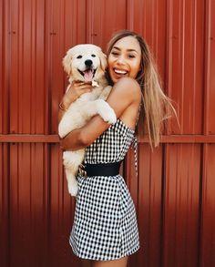 Mylifeaseva - Eva Gutowski - golden retriever puppy - Hanalei - girl and dog