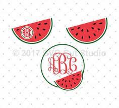 Watermelon SVG Cut Files for Cricut and Silhouette.