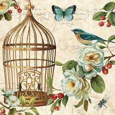 New 'Free as a Bird II' by Lisa Audit Graphic Art Print by Great Big Canvas Home Decor Furniture. Fashion is a popular style Canvas Artwork, Canvas Art Prints, Fine Art Prints, Bird Artwork, Decoupage Vintage, Art Encadrée, Creation Photo, Buch Design, Images Vintage