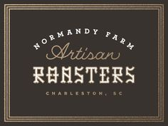Normandy Farm Artisan Roasters Typography Letters, Typography Design, Cow House, Farm House, Urban Farmer, Career Inspiration, Types Of Lettering, Retro Logos, Normandy