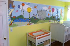 Totally gonna ask Jason to do something like this with canvas' for Amelyas room!