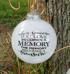 The best Memorial ornaments In Memory Christmas Ornaments, Clear Ornaments, Memorial Ornaments, Glitter Ornaments, Memorial Gifts, Diy Christmas Ornaments, Christmas Projects, Holiday Crafts, Christmas Decorations