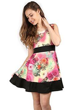 d90b0e8b2584 Amazon.com: Oops Outlet Women Sleeveles Block Panel Contrast Hem Floral  Pleated Skater Dress: Clothing. Fashion BrandsSkater DressPlus Size  DressesParty ...