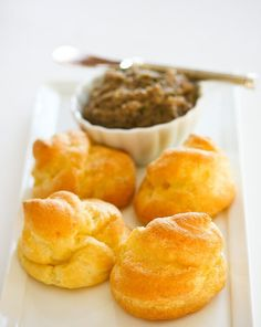 Cheese Puffs-Simple Pate a Choux Recipe (pastry puffs) with step by step photos ~ http://steamykitchen.com