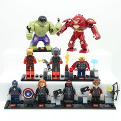 9 pcs #avengers #marvel super #heroes mini figures iron man hulk thor fit with le,  View more on the LINK: http://www.zeppy.io/product/gb/2/281808570153/