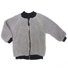 The bomber jacket of the season. Reverses to cozy sherpa fleece or smooth, soft organic jersey. Zip front with side slant pockets (on sherpa side). In deep gala Baby Boutique Clothing, Kids Clothing, Cool Kids Clothes, People Shopping, Kids Branding, Organic Cotton, Kids Outfits, Bomber Jacket, How To Wear