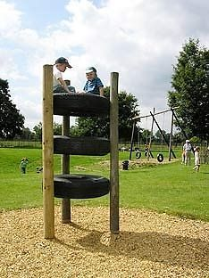 Child's Up-Cycled Outdoor Playground Climber/Stepper Tier There have been requests for a new addition to the backyard playground. Kids Yard, Play Yard, Backyard For Kids, Natural Playground, Backyard Playground, Playground Ideas, Outdoor Play Spaces, Outdoor Fun, Kids Play Area